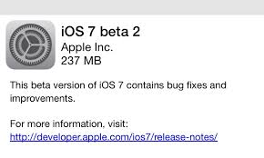 iOS 7 Beta 2 version